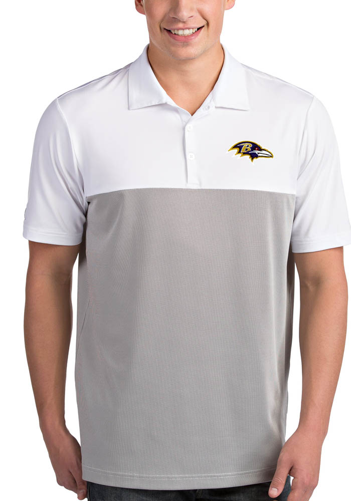 Baltimore Ravens Mens White Venture Short Sleeve Polo - Image 1