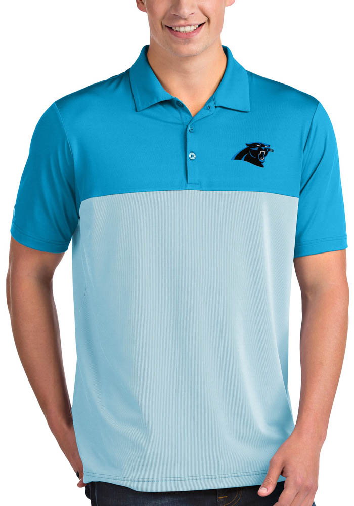 Carolina Panthers Mens Blue Venture Short Sleeve Polo - Image 1