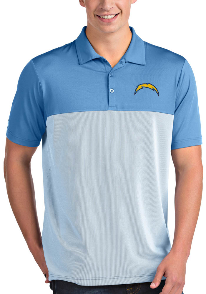 Antigua Los Angeles Chargers Mens Blue Venture Short Sleeve Polo - Image 1