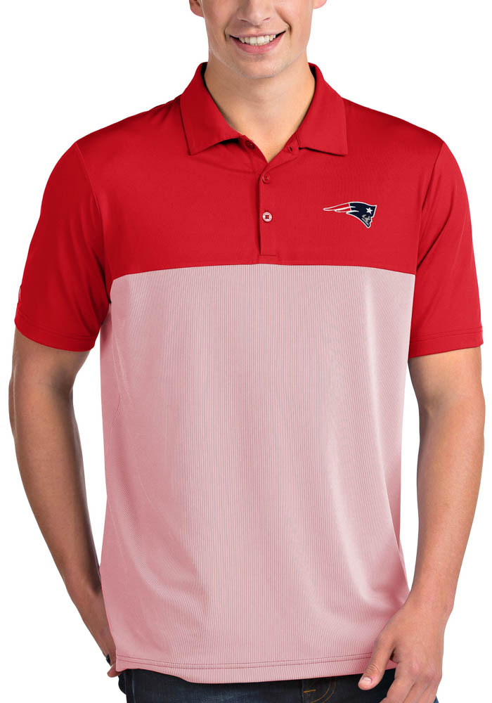 New England Patriots Mens Red Venture Short Sleeve Polo - Image 1