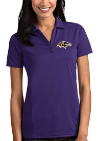 Baltimore Ravens Womens Antigua Tribute Polo Shirt - Purple