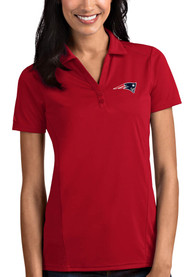 New England Patriots Womens Antigua Tribute Polo Shirt - Red