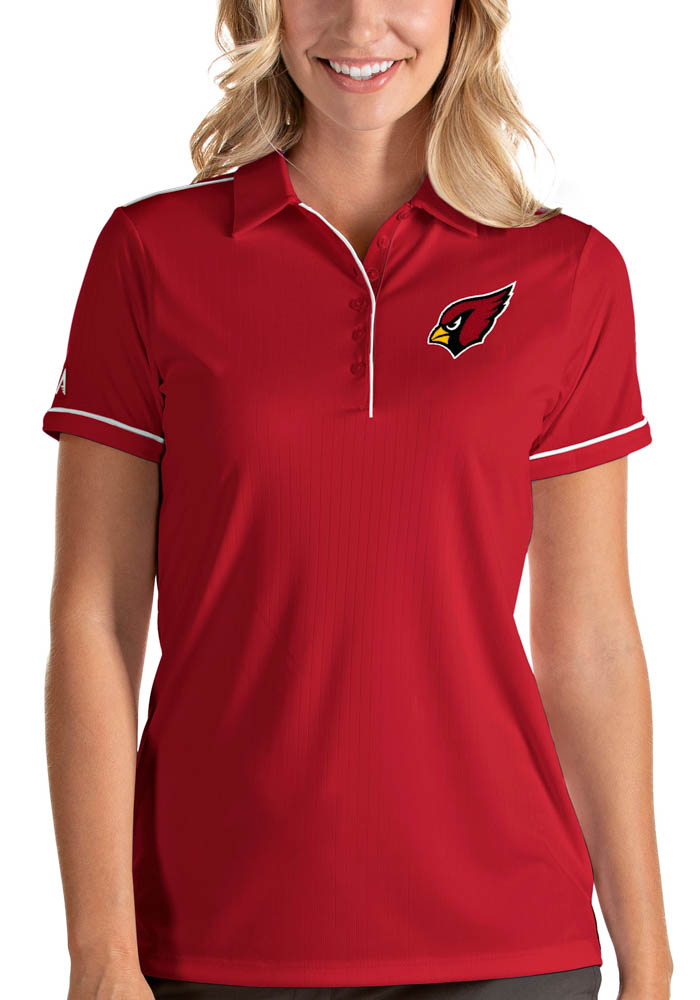 Arizona Cardinals Womens Red Salute Short Sleeve Polo Shirt - Image 1