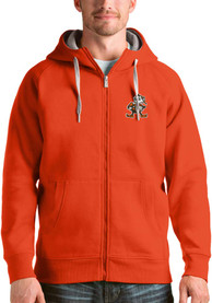 Antigua Cleveland Browns Orange Victory Full Zip Jacket