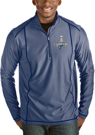 St Louis Blues Antigua Tempo 1/4 Zip Pullover - Blue