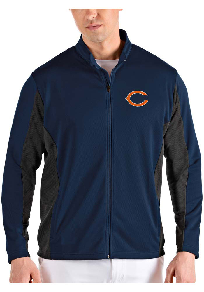 Antigua Chicago Bears Mens Navy Blue Passage Light Weight Jacket - Image 1