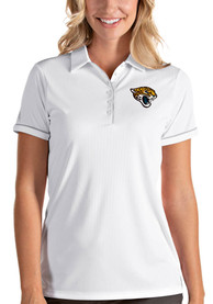Jacksonville Jaguars Womens Antigua Salute Polo Shirt - White