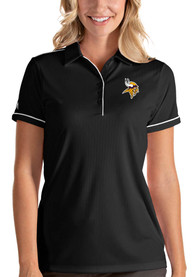 Minnesota Vikings Womens Antigua Salute Polo Shirt - Black