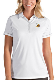 Minnesota Vikings Womens Antigua Salute Polo Shirt - White