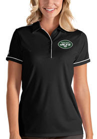 New York Jets Womens Antigua Salute Polo Shirt - Black