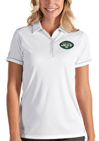 New York Jets Womens Antigua Salute Polo Shirt - White