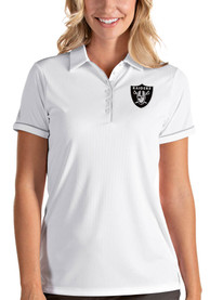 Las Vegas Raiders Womens Antigua Salute Polo Shirt - White