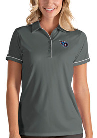 Tennessee Titans Womens Antigua Salute Polo Shirt - Grey