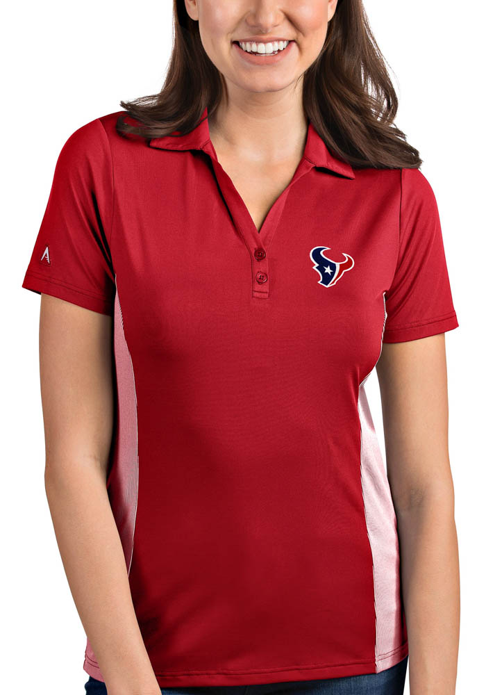 more photos 504b8 5a765 Houston Texans Womens Red Venture Short Sleeve Polo Shirt