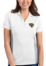 Jacksonville Jaguars Womens Antigua Venture Polo Shirt - White