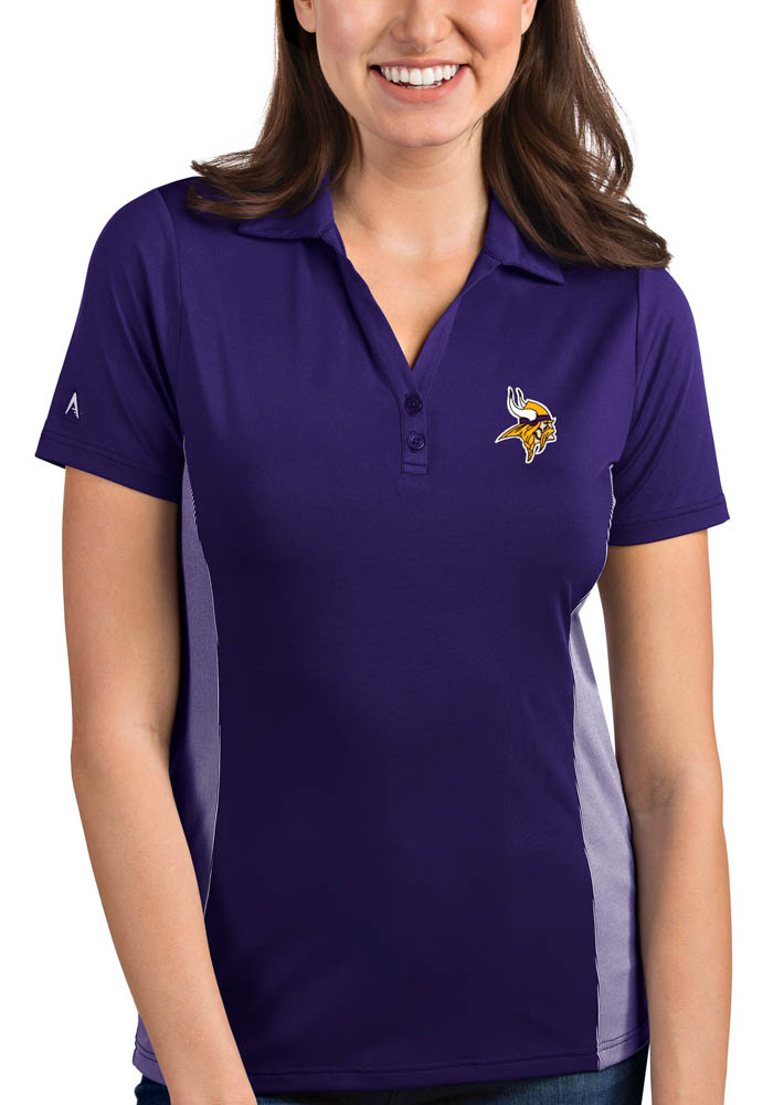 Minnesota Vikings Womens Purple Venture Short Sleeve Polo Shirt - Image 1
