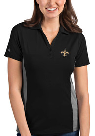 New Orleans Saints Womens Antigua Venture Polo Shirt - Black