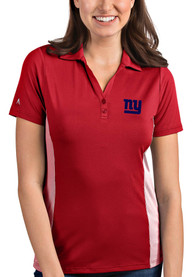 New York Giants Womens Antigua Venture Polo Shirt - Red