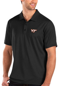 Virginia Tech Hokies Antigua Balance Polo Shirt - Black