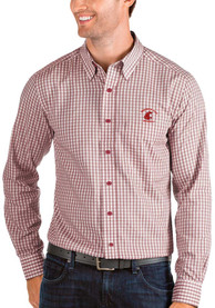 Washington State Cougars Antigua Structure Dress Shirt - Red