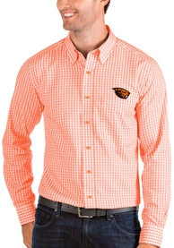 Oregon State Beavers Antigua Structure Dress Shirt - Orange