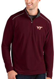 Virginia Tech Hokies Antigua Glacier 1/4 Zip Pullover - Red