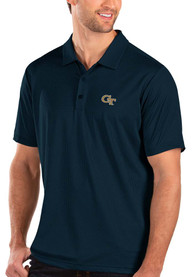 GA Tech Yellow Jackets Antigua Balance Polo Shirt - Navy Blue