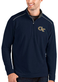 GA Tech Yellow Jackets Antigua Glacier 1/4 Zip Pullover - Navy Blue