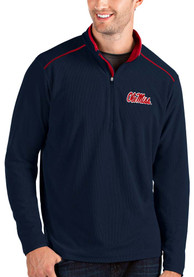 Ole Miss Rebels Antigua Glacier 1/4 Zip Pullover - Navy Blue