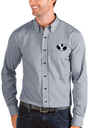 BYU Cougars Antigua Structure Dress Shirt - Navy Blue