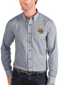 Marquette Golden Eagles Antigua Structure Dress Shirt - Navy Blue