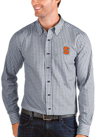Syracuse Orange Antigua Structure Dress Shirt - Navy Blue
