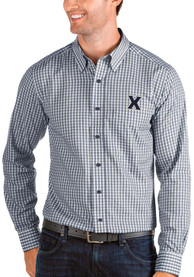 Xavier Musketeers Antigua Structure Dress Shirt - Navy Blue
