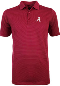 Antigua Alabama Crimson Tide Crimson Quest Short Sleeve Polo Shirt