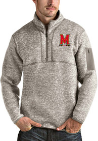 Maryland Terrapins Antigua Fortune 1/4 Zip Fashion - Oatmeal