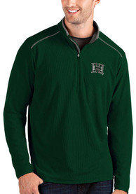 Hawaii Warriors Antigua Glacier 1/4 Zip Pullover - Green