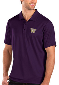 Washington Huskies Antigua Balance Polo Shirt - Purple