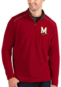 Maryland Terrapins Antigua Glacier 1/4 Zip Pullover - Red