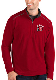 Utah Utes Antigua Glacier 1/4 Zip Pullover - Red