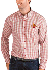 Iowa State Cyclones Antigua Structure Dress Shirt - Red