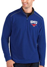 SMU Mustangs Antigua Glacier 1/4 Zip Pullover - Blue