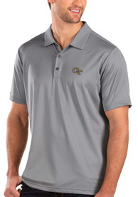 GA Tech Yellow Jackets Antigua Balance Polo Shirt - Grey