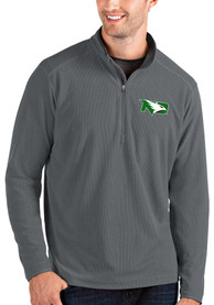 North Dakota Fighting Hawks Antigua Glacier 1/4 Zip Pullover - Grey