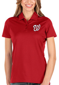 Washington Nationals Womens Antigua Balance Polo Shirt - Red