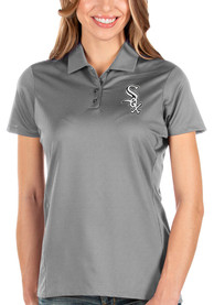 Chicago White Sox Womens Antigua Balance Polo Shirt - Grey