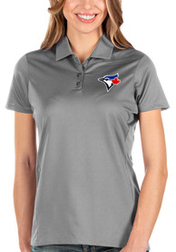 Toronto Blue Jays Womens Antigua Balance Polo Shirt - Grey