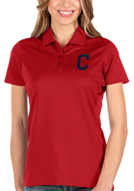 Cleveland Indians Womens Antigua Balance Polo Shirt - Red