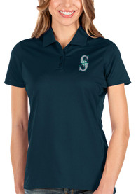 Seattle Mariners Womens Antigua Balance Polo Shirt - Navy Blue
