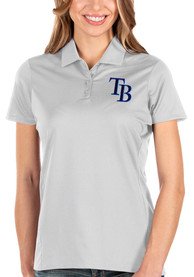 Tampa Bay Rays Womens Antigua Balance Polo Shirt - White