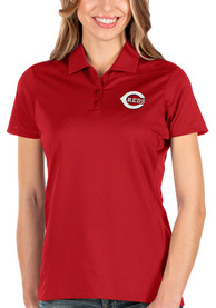 Cincinnati Reds Womens Antigua Balance Polo Shirt - Red